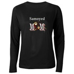 samoyed dog mom dark long sleeved shirt