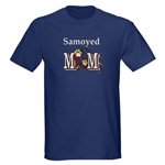 samoyed dog mom tees available in mulit colors