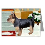 australian terrier christmas cards in single card or 10 or 20 packs