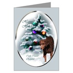 Beautiful curly coated retriever art christmas cards are a wonderful way to send your holiday greetings.
