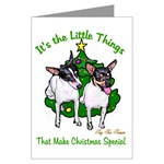 toy fox terrier christmas cards, in single card or multi packs