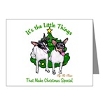 toy fox terrier holiday note cards