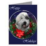 Old English Sheepdog Christmas cards are a lovely way to send holiday greetings to loved ones.