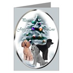 Poodle art Christmas cards are a wonderful way to send Peace, Joy, and Love to your family and friends