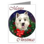 WestHighland White Terrier Christmas cards in single card or multi packs