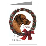 Vizsla Christmas cards are a wonderful way to send holiday wishes to your loved ones.