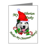 Siberian Husky Christmas cards are a great way to send your holiday greetings.
