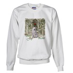 Samoyed Christmas art looks great of a wide variety of holiday apparel