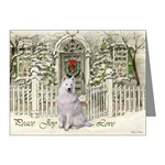 Samoyed Christmas cards are a lovely way to send Peace, Joy, and Love to family and friends.