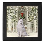 Samoyed art keepsake box, beautiful Christmas gifts they will cherish.