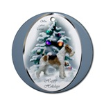Wire Fox Terrier Christmas ornament will be a favorite on your tree, or use as an elegant gifts topper.