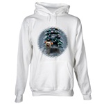 Silky Terrier Christmas art on lots of style of holiday wear. Hoodie, sweatshirt, and more.