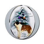 Saint Bernard Christmas ornament will be favorite on your tree, or use as an elegant gifts topper.