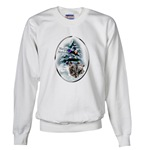 Stay warm and cozy in our skye terrier Christmas sweatshirt.
