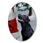 labrador retriever christmas ornaments oval ornament