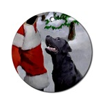 black labrador retriever christmas round ornament, beautiful on your tree or as a gifts topper