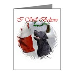 black labrador retriever christmas note cards with either poem or smaller image inside