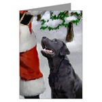 labrador retriever christmas cards in single card or 10 or 20 packs