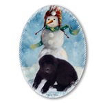 nnewfoundland dog christmas ornament