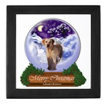 Yellow Labrador Retriever Christmas gifts keepsake box