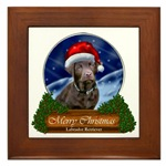 Stunning art framed tile makes wonderful gifts for labrador retriever lovers at Christmas