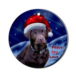Chocolate Labrador Retriever Christmas ornaments