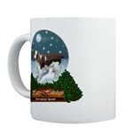 welsh springer christmas mugs, steins