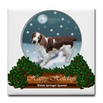 welsh springer christmas snow globe art on a large selection of holiday gifts