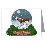 welsh springer spaniel christmas cards in choice of single cards or 10 or 20 packs