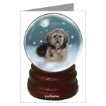 cockapoo christmas cards, single card, or 10 or 20 packs