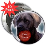 cane corso holiday buttons in singles or bulk pack