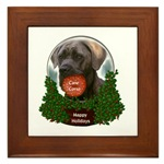 cane corso christmas framed tile, a great gift idea for corso lovers