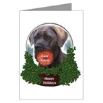 cane corso christmas cards in single card or 10 or 20 packs