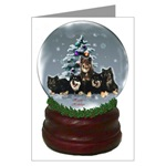 finnish lapphund christmas cards in single card or multi packs