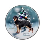 hovawart christmas ornaments, round ornament