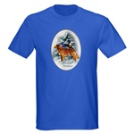 Christmas duck tolling retriever t-shirts, and other styles of apparel in both adult and kids sizes