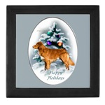 duck toller christmas holiday keepsake box, great gift ideas for toller lovers