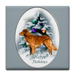 nova scotia duck tolling retriever christmas gifts, tile coaster