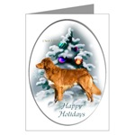 nova scotia duck tolling retriever christmas cards, single card or multi packages