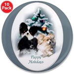 Pappy Holidays Christmas buttons, magnets, in individual or bulk packages of 10 or 100