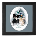 Papillon Christmas gifts keepsake tile box, for your jewelry and special momentos