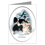Papillon Art Christmas Cards, in single card or multi packs