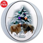 pom lovers christmas buttons and magnets in individual or bulk packages