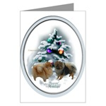 pomeranian lovers christmas cards, in single card or multi packs
