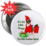 rat terrier lovers christmas buttons, magnets, in individual or bulk packs