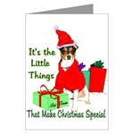 rat terrier christmas cards, in single card or multi packs