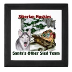 siberian huskies art Christmas keepsake box, great gifts for the holidays