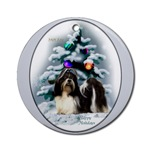 shih tzu christmas ornaments, round ornament
