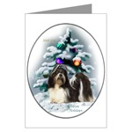 shih tzu christmas cards, in single card or multi packs