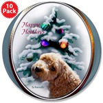 schnoodle christmas buttons and magnets in individual or bulk packs. Make great stocking stuffers!